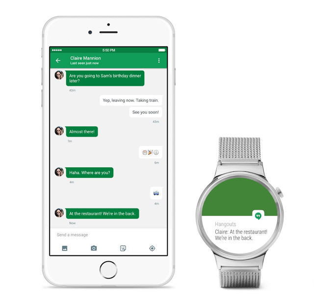 Android Wear auf dem iPhone