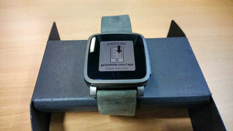 Pebble Time Steel von Vorne