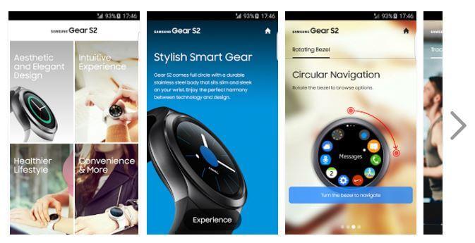 Samsung Gear S2 Experience App