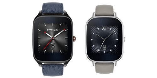 Asus Zenwatch 2 - die große und kleine Version im Vergleich. Quelle: Asus
