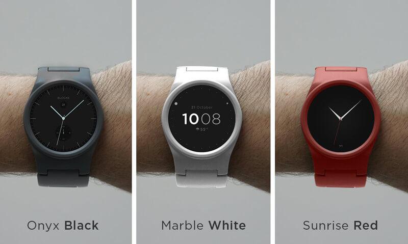 3 Varianten der modularen Blocks Smartwatch