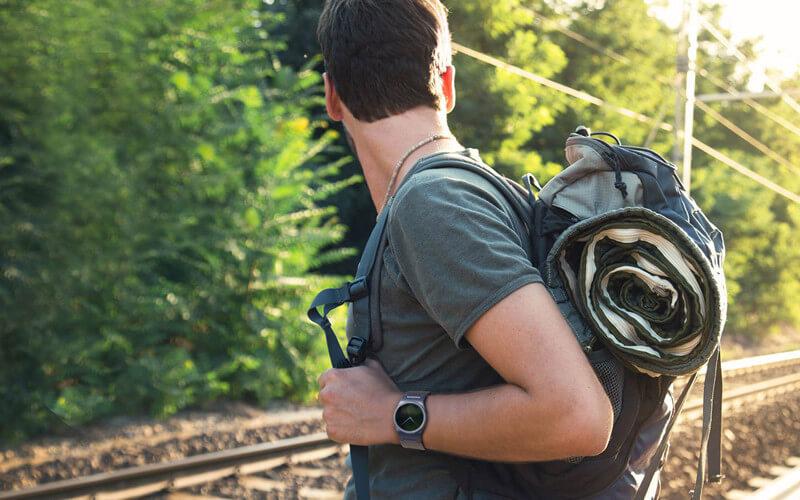 Block Smartwatch beim Wandern