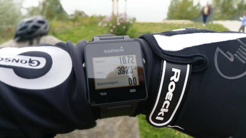 Garmin vivoactive im Test auf dem Fahrrad