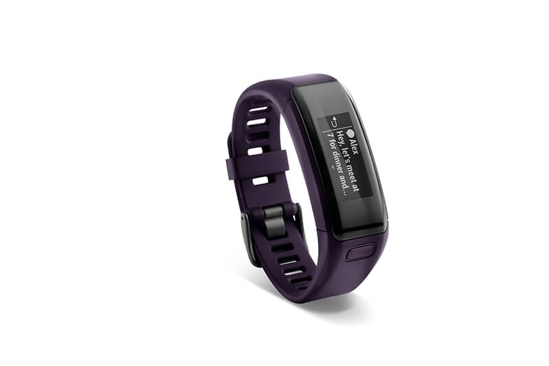 Garmin Vivosmart Hr Lila Notifications Presse