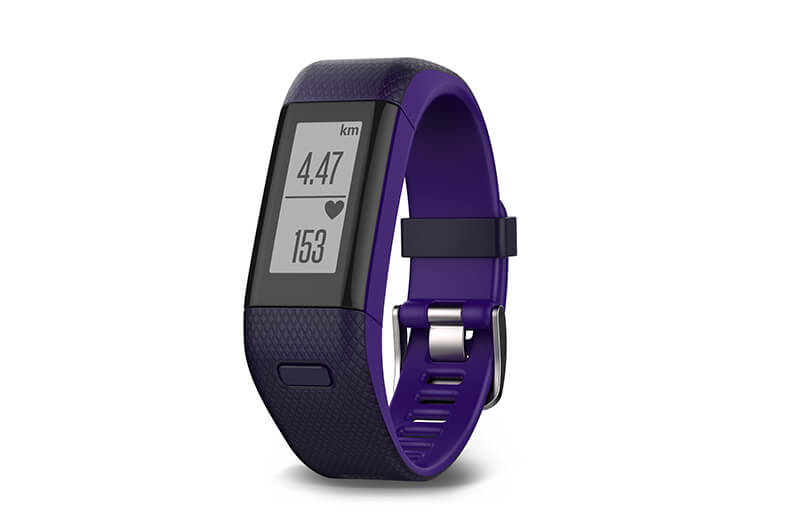 Garmin vivosmart HR+ in Lila