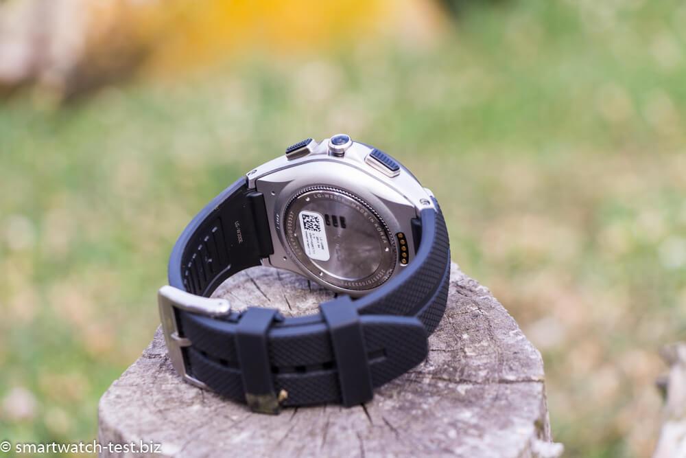 LG Watch Urbane 2nd Edition Rückansicht mit Pulsmesser