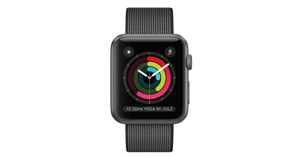Apple Watch Series 2 in Schwarz