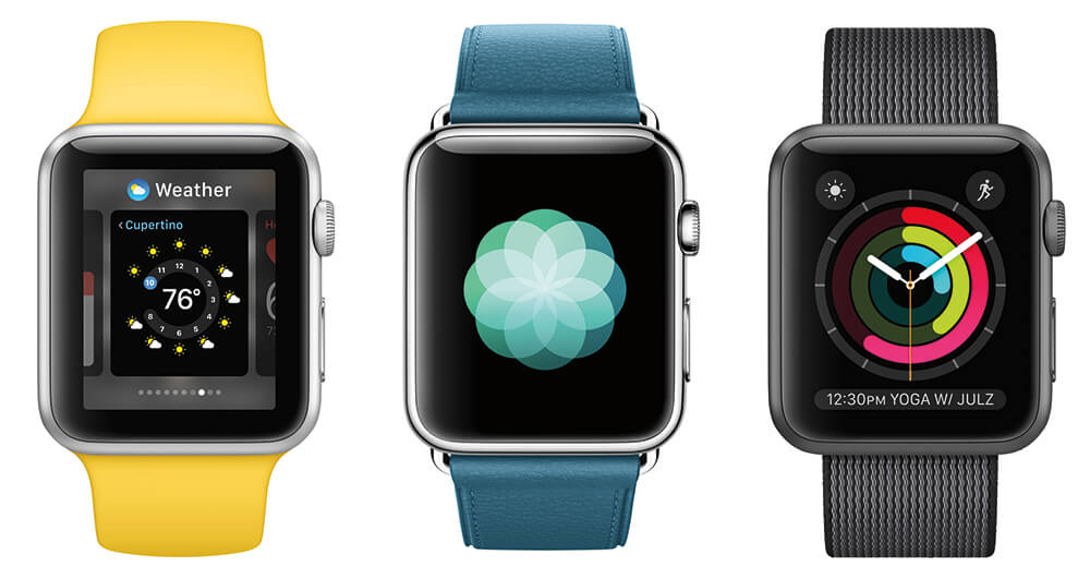 Apple Watch Series 2 in verschiedenen Farben