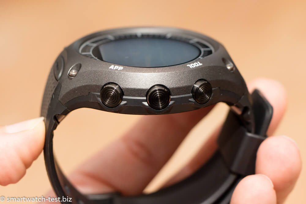 Buttons an der rechten Seite der Smartwatch