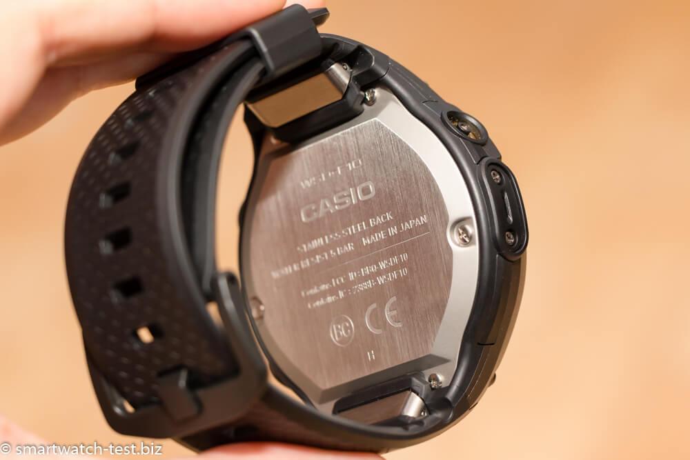 Rückseite der Smartwatch mit wasserdichter Gehäuseabdeckung