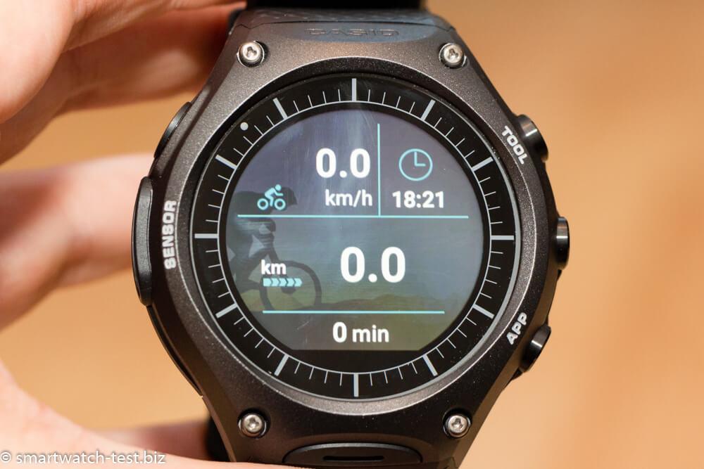 Casio WSD-F10 Smartwatch als Tracker für das Fahrrad
