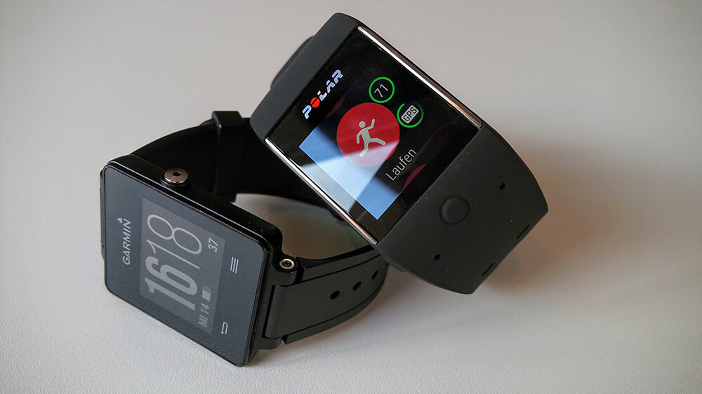 Polar M600 mit der Alternative Garmin vivoactive