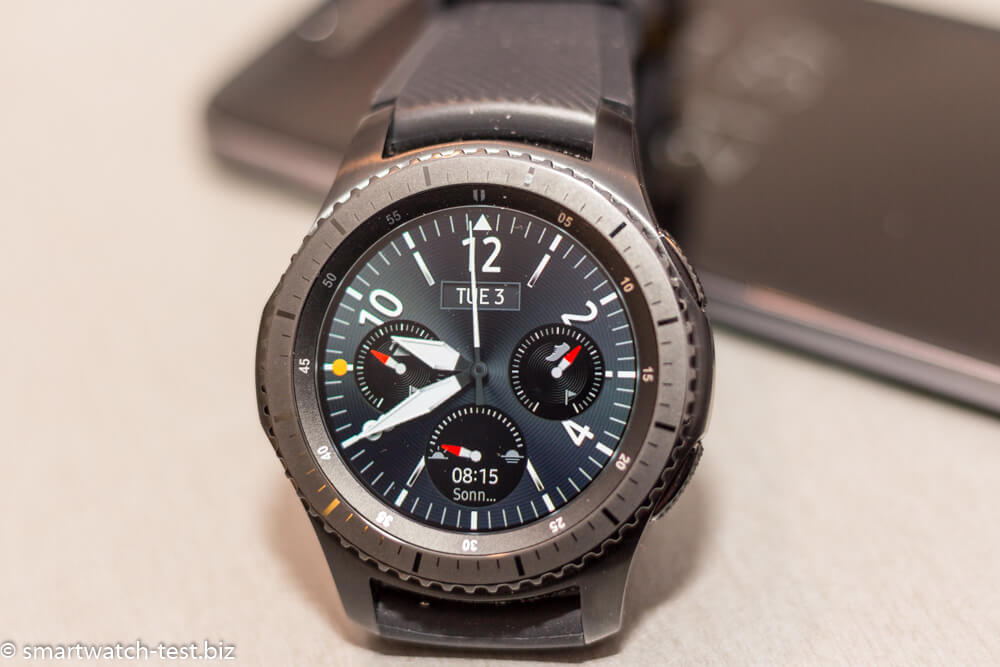 Samsung Gear S3 - rundes Display mit Corning Gorilla Glass SR+