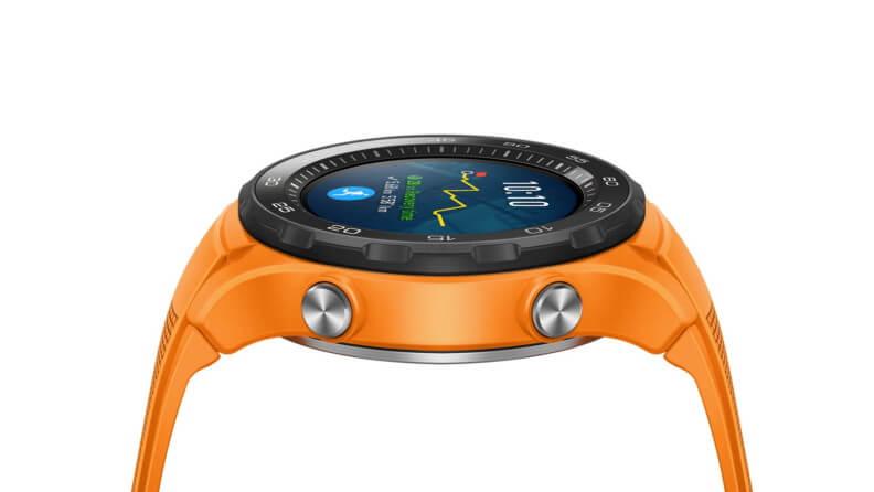 Sportliche Variante der Smartwatch in Orange