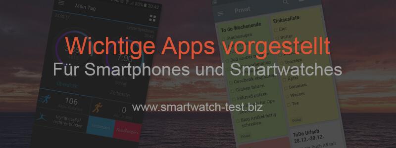 Wichtige Apps für Smartwatch und Smartphone vorgestellt