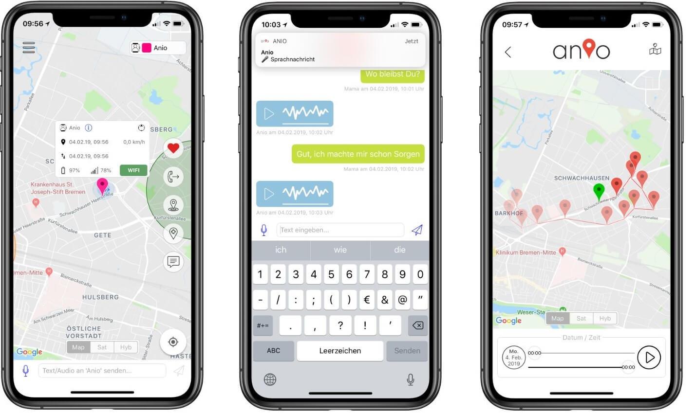 Anio 4 Touch App Kinder GPS Uhr