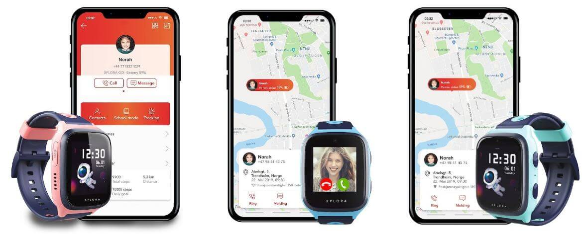 XPLORA X4 Kinder Smartwatch Varianten mit Smartphone
